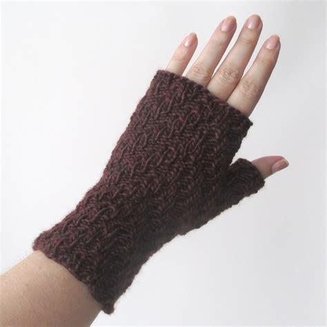 knitting gloves updated knit pattern herringbone rib fingerless gloves