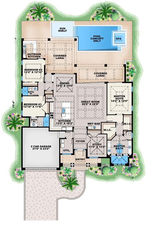 contemporary plan contemporary house plan 175 1134 3 bedrm 2684 sq ft