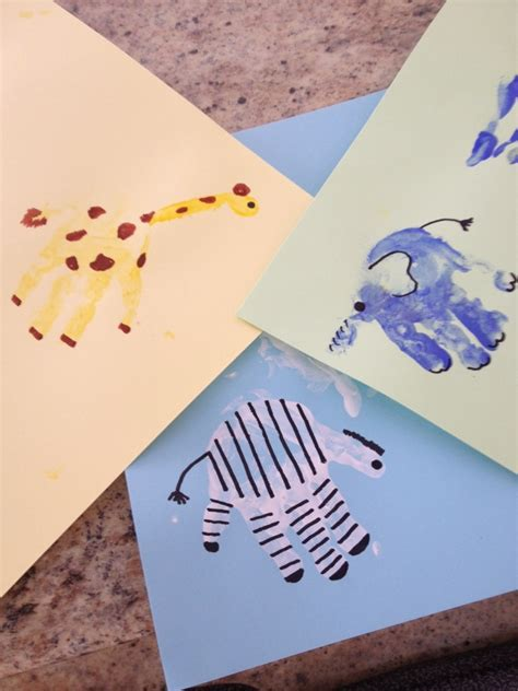handprint craft for 50 learning activities for babies how wee learn
