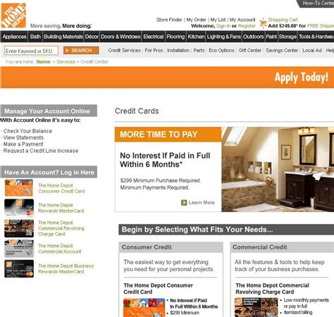 make home depot credit card payment home depot account pay is now a click away