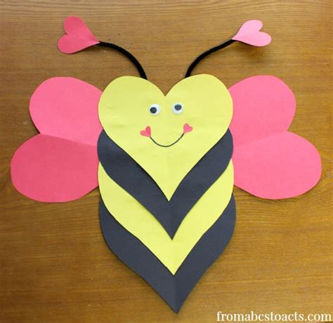 valentines day arts and crafts for bee mine craft for from abcs to acts