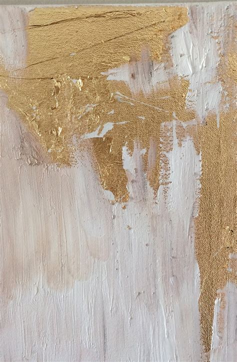 acrylic painting gold livelovediy how to make diy gold leaf abstract