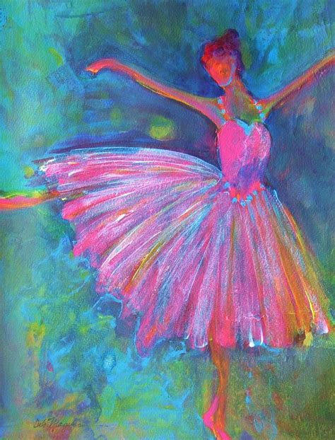 acrylic painting artist ballet bliss painting by deb magelssen