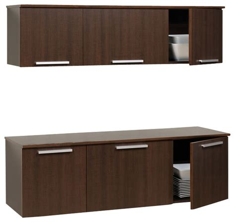 wall mounted kitchen cabinets prepac coal harbor espresso wall mounted buffet and hutch