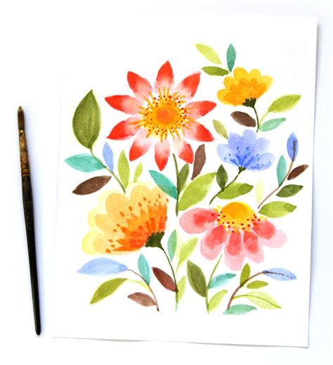 make flower painting remodelaholic 60 easy wall ideas that even can make