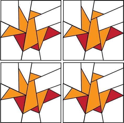 origami crane pattern mini paper pieced crane two color 1 5