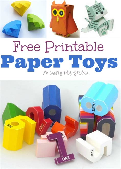 free printable paper crafts 6 best images of free printable paper toys