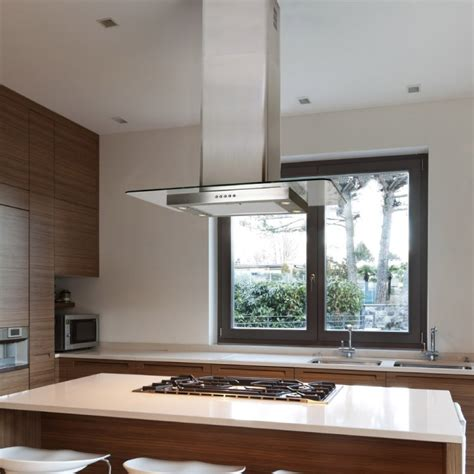 kitchen island extractor hoods 70cm island flat glass stainless steel