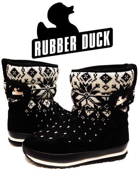 snowflake rubber st snow joggers original rubber duck snowjoggers black