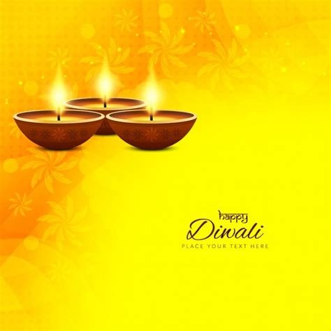 yellow ornaments yellow background with ornaments for diwali vector free