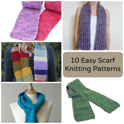 how to make a knit scarf 10 easy scarf knitting patterns for beginners