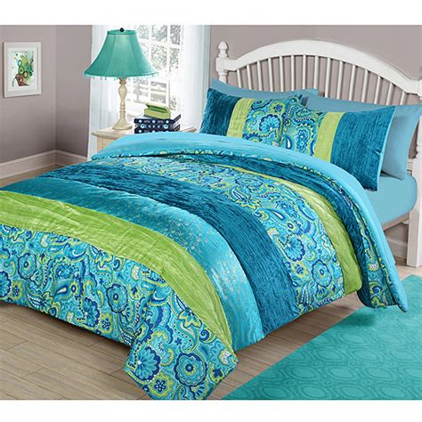 boho comforter set your zone cool boho comforter set walmart