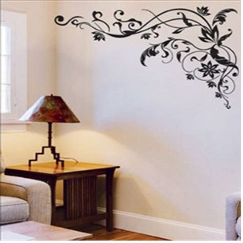 removable stickers for walls classic black flowers removable wall decor wall stickers