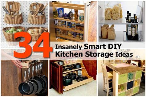 kitchen design diy 34 insanely smart diy kitchen storage ideas