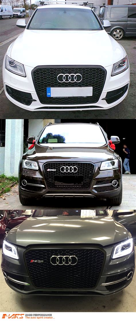 Audi Q5 Grill by Gloss Black Honeycomb Rs Q5 Style Front Bumper Grille