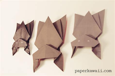 bat origami hanging origami bat for paper kawaii