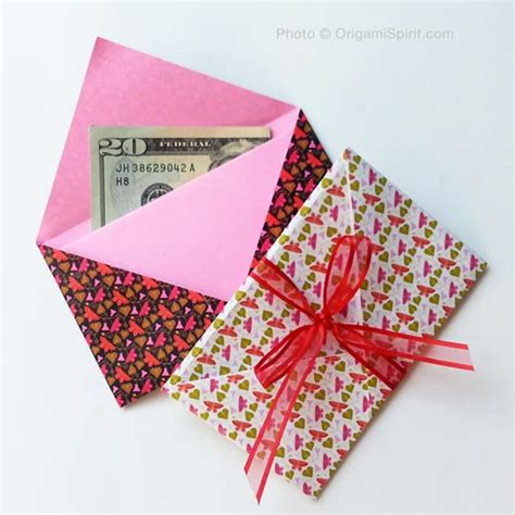 origami gifts make a gift origami envelope in less than two minutes