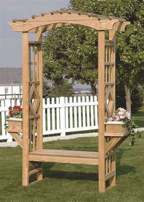 Garden Arch And Bench Outdoor Wooden Garden Arbor Trellis Arches Bench Amish
