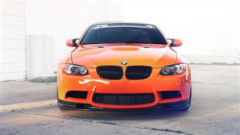 Car Wallpaper Front View by Wallpaper Bmw M3 E92 Orange Car Front View 1920x1200 Hd