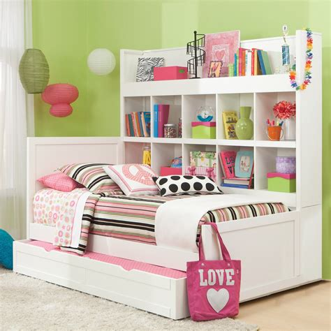 childrens bed with bookcase headboard american woodcrafters smart solutions panel bed bookcase with trundle bookcase beds at