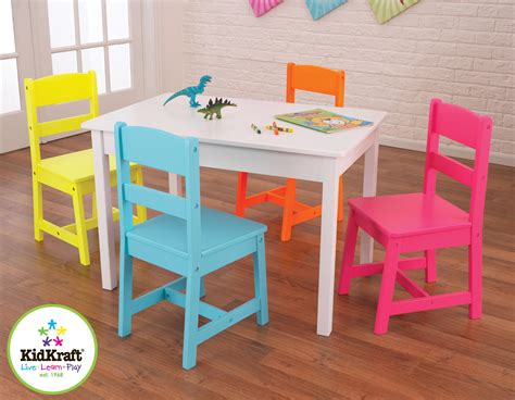 kid craft table and chairs kidkraft highlighter table 4 chair set by oj commerce