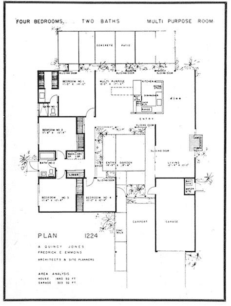 joseph eichler floor plans eichler home floor plan joseph eichler