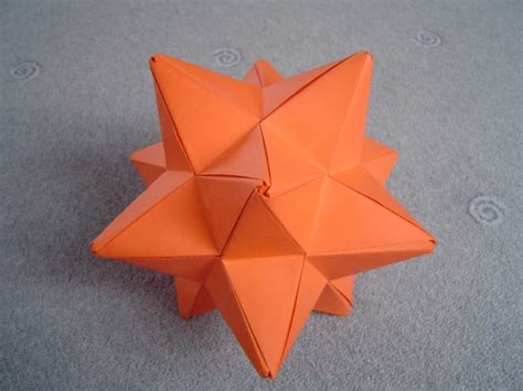 origami stellated dodecahedron modular origami spiky balls and stellated polyhedra