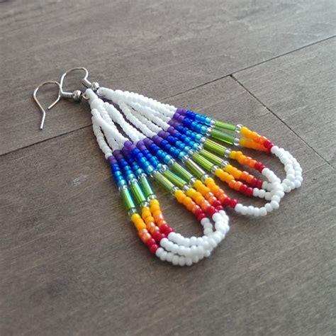 how to indian bead american beaded earrings rainbow earrings