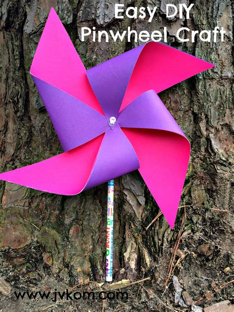 pinwheel craft for easy diy pinwheel craft