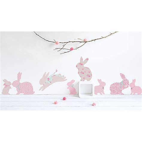 Childrens Large Wall Stickers children s rabbit wall stickers by koko kids