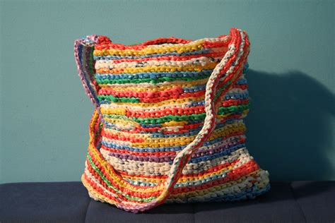 crochet bags with patterns for creating things by crocheting with plastic