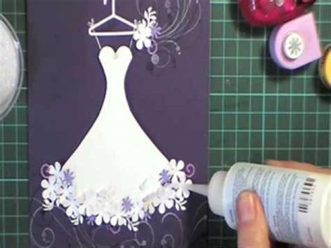 how to make a card dress wedding dress card