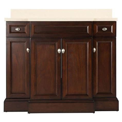 foremost teagen 42 in w bath vanity in espresso with engineered vanity top in beige