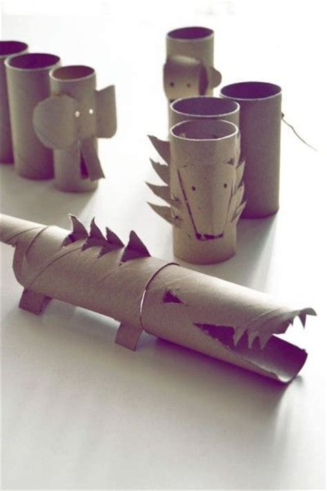 crafts with wrapping paper rolls wrapping paper rolls crocodile elephant diy