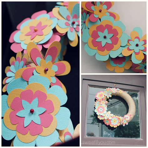 summer paper crafts for easy diy paper flower wreath sweet lil you