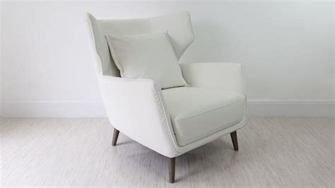 White Armchair by Wing Back Leather Occasional Armchair White Grey And Black