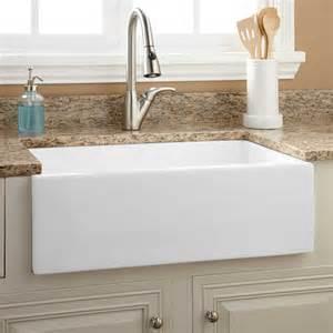 kitchen white sink 30 quot risinger fireclay farmhouse sink smooth apron