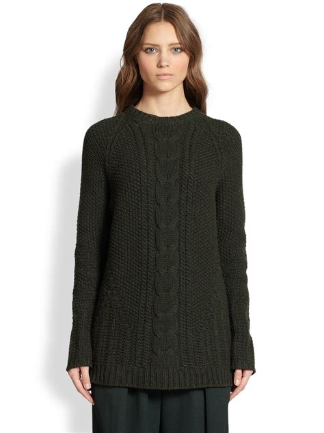 cable knit wool sweater the row tesia cable knit merino wool sweater in