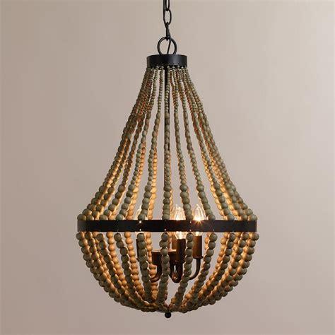 wood bead chandelier pottery barn wood bead chandelier pottery barn