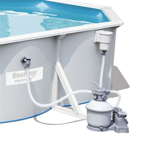 above ground pool and sand filter bestway hydrium titan steel wall above ground swimming