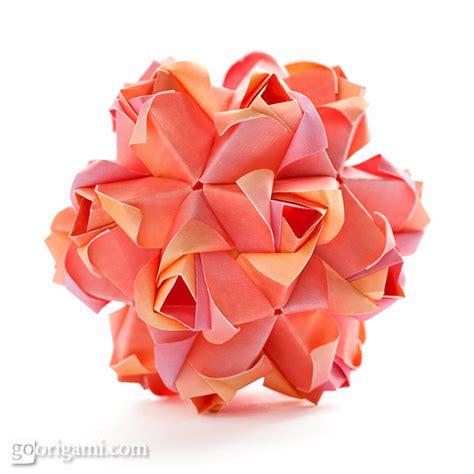 origami kusudamas roses kusudama diagram