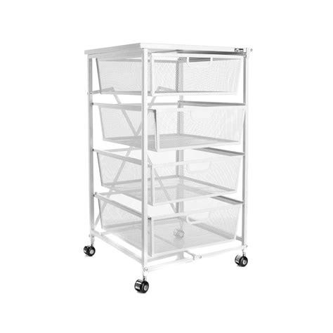 origami kitchen cart origami 4 drawer kitchen cart with wood shelf white new ebay