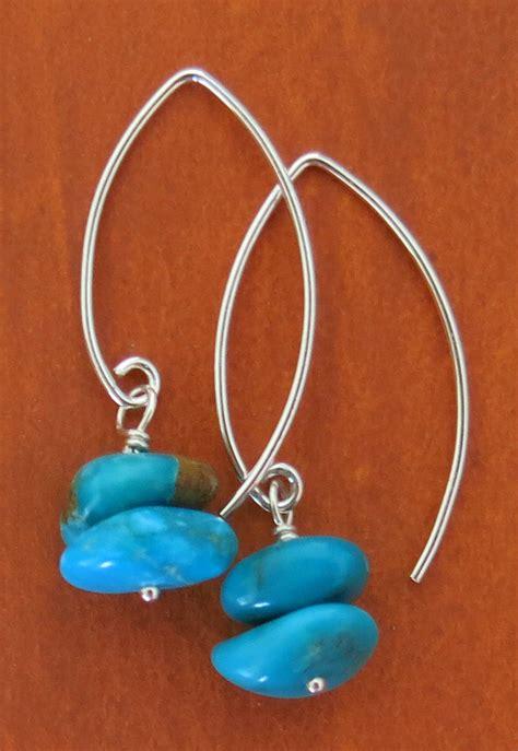 how to make turquoise jewelry handmade nevada blue turquoise earrings handmade jewelry