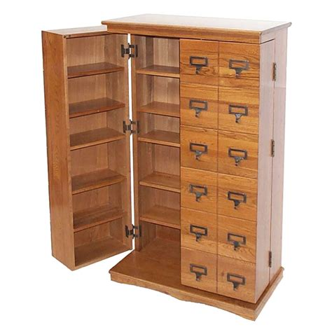 dvd storage cabinets wood leslie dame library style multimedia storage cabinet