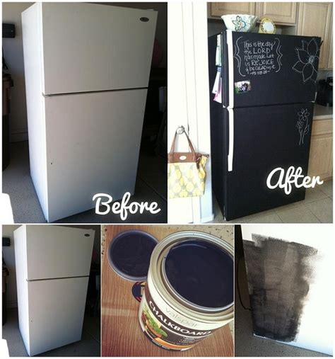 chalkboard paint diy ideas diy chalkboard painting on your fridge home design