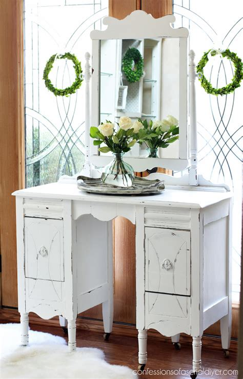 diy antique chalk paint antique dressing table makeover confessions of a serial