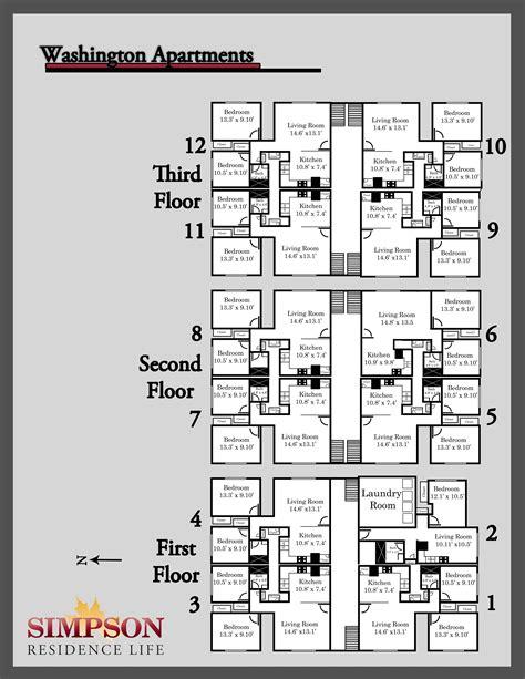 2 floor building plan house plans apartment complex