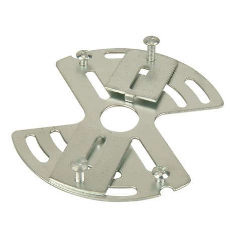 bracket for ceiling light fixture shop portfolio silver metal ceiling light mount at lowes