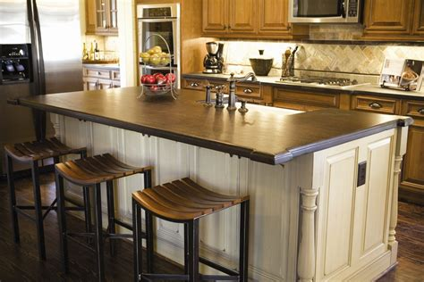 kitchen island top ideas 15 ideas for wooden base stools in kitchen bar decor