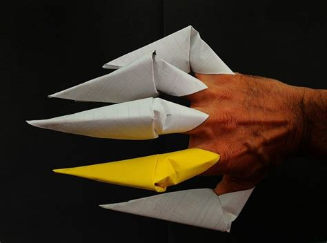 origami finger claw origami paper finger claws a4